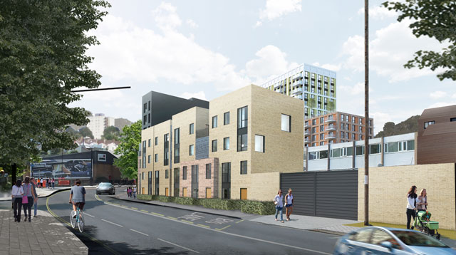 St Catherine's Place proposals - view from Dalby Avenue CGI