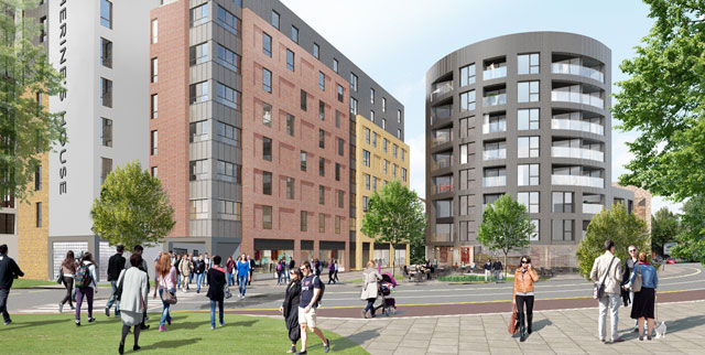 St Catherine's Place proposals - view from Malago Road