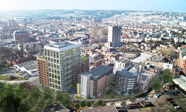 St Catherine's Place proposals view across city