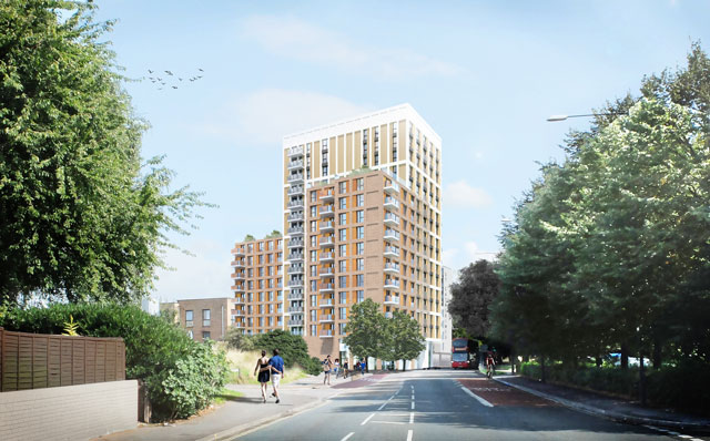 St Catherine's Place proposals - view from Malago Road facing NE