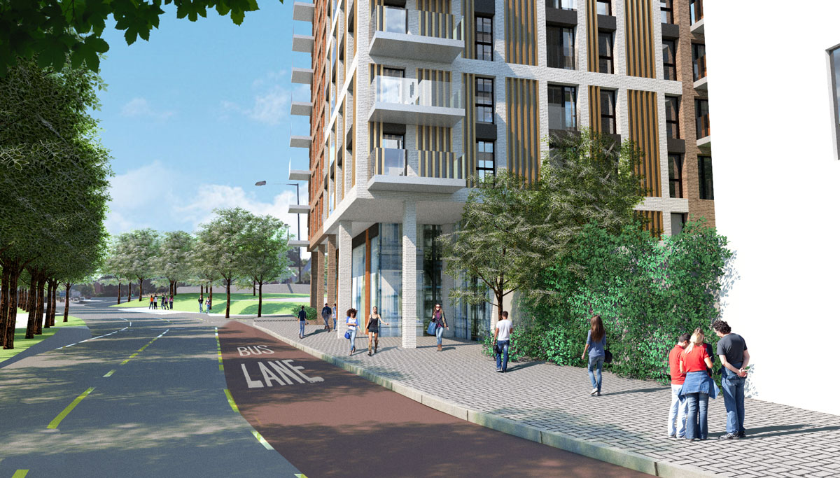 Dalby Ave bus lane – St Catherine's Place proposals – towards Malago Road